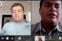 Eric Ortega y Aldo Perez en periodo de preguntas y respuestas.
