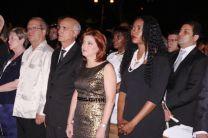 Alcaldesa capitalina y demás invitados al evento.