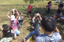 Actividades deportivas en el convivio infantil.