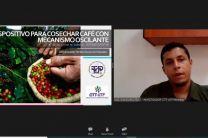 Ing. Giancarlo Ruíz, investigador del CITT, presentó el tema Cosechar Café con Mecanismo Oscilante.