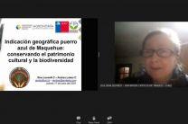 Expositora del webinar, Dra. Gina Leonelli.
