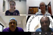 Presentación de la estudiante Nelly Espinosa, autoridades y docentes de la Facultad.