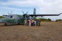 El Servicio Nacional Aeronaval apoyó con el  traslado de los investigadores.
