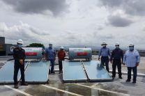Visita a estaciones de colectores solares