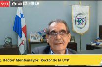 Imagen del Ing. Héctor M. Montemayor Á. Rector de la UTP, inaugurando el evento.