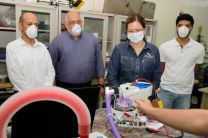 Visita de la Ministra de Salud, Dra. Rosario Turner, a las instalaciones del Fab Lab de la UTP.