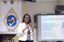 La Dra. Milena Gómez, se refirió al tema de la Administración Logística.