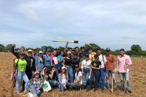 Estudiantes que participaron en la Reforestación en la Facultad de Ciencias Agropecuarias.