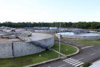 Vista panorámica de la Planta de Tratamiento de Aguas Residuales de Panamá.