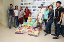 Donación de pañales desechables.