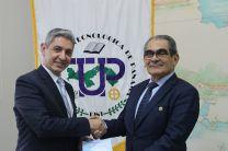 Rector de la UTP y el Embajador de Israel en Panamá.