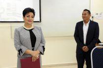 Correspondió a la Licda. Alma Urriola de Muñoz, Vicerrectora Académica de la UTP. dar las palabras de introducción al seminario.