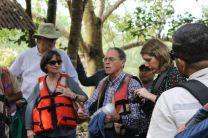 Presidente de la Alianza Mesoamericana por la Biodivesidad en el sitio de trabajo