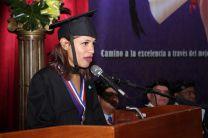 Estudiante del capitulo de honor. Yadira Y. Cuentas De La Rosa, expresa su agradecimiento a la UTP.