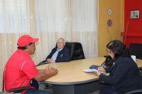 Visita de las autoridades al Centro Regional de Bocas del Toro.