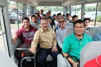 Autoridades de la UTP y estudiantes, participaron en un recorrido cerca del Centro Regional.