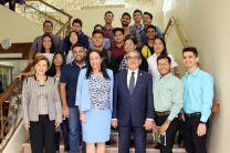 El Ing. Montemayor Ábrego,  organizaciones estudiantiles y promotoras de la Revista.