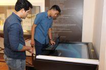 Dos de los estudiantes de la UTP que desarrollaron la Plataforma.