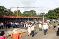 Kioscos de venta de comida típica, fueron parte de esta actividad.