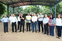 Inauguran proyectos - Cancha Deportiva techada.