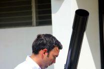 Observación del Eclipse en el Observatorio de la UTP.
