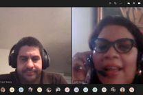 Expositor Ing. Alejandro Acosta y la Ing. Yamileth Quezada, organizadora.