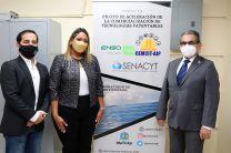Rector de la UTP, Ing. Héctor M. Montemayor Á., Dra. Milena Gómez, SENACYT,  e Ing. Sergio Hinestrosa, Vicepresidente de ENSA