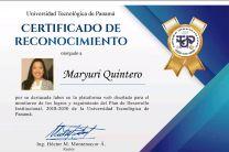 Certificado de Reconocimiento a los que participaron en la ejecución del PDI.