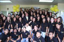Estudiantes organizadores del Congreso.