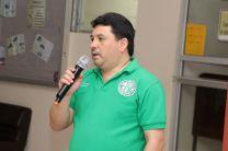Lic. José Peralta, Coordinador de la Facultad de Ingeniería de Sistemas Computacionales, encargado de dar las primeras palabras.