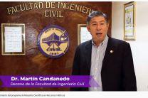 Dr. Martín Candanedo, Decano de la Facultad de Ingeniería Civil.
