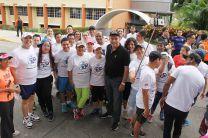 Participantes de los 5 kilómetros de la Carrera-Caminata.