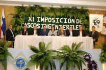 Mesa principal: Autoridades del Centro Regional de Veraguas, Decanos de Facultades homenajeadas, Párroco de la Pastoral Universitaria e invitados.