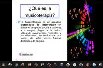 Diapositiva definición del concepto musicoterapia
