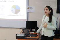 Estudiante Paola Lineth García Bonilla, sustentó su trabajo de graduación para optar por el título de Licenciatura Ingeniería Industrial.