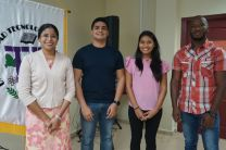 Estudiantes de la Facultad de Ingeniería Civil de la UTP: María Ramírez, Luis Armuelles, Gisela Gaitán y Tomás Philips.