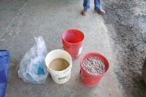 Materiales para preparar las muestras de concreto.