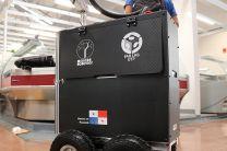 Estos robots son para uso en interiores y se utilizan para aplicar nebulización.