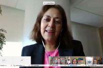 Sra. Lucia Meza, Representante del CAF en Panamá, organizadores concurso.