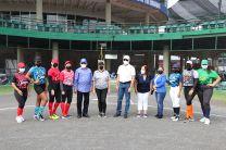 Autoridades de la UTP participaron en la inauguración del Campeonato.