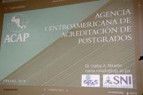 En la reunión se tocaron temas sobre la Acreditación de Postgrado en Centroamérica.