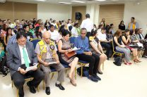 En la toma de Posesión del Club de Leones de la UTP asistieron autoridades de  la UTP y del Club de Leones.