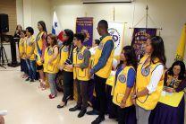 Estudiantes miembros de la Junta Directiva del Club de Leones UTP.