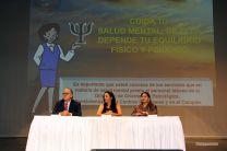 La La Vcerrectora Valenzuela, el Dr. Calderón y la Directora, Artemia Victoria.