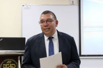 El Decano de la FII, Dr. Israel Ruíz, participó en el acto de despedida de los visitantes.