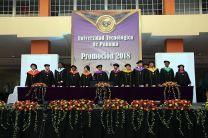 Las autoridades de la UTP que participaron en la graduación 2018.