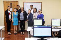 Colaboradores de la UTP que estuvieron durante el lanzamiento de la Prueba.