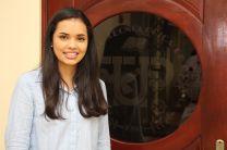Una de las estudiantes de Intercambio Académico en Wilkes.