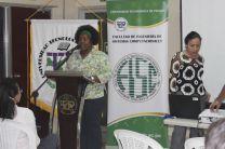 Mgter. Lydia H. de Toppin,  Vicedecana de Investigación, Postgrado y Extensión.