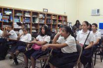 Estudiantes de la Escuela Fátima, de El Chorrillo.